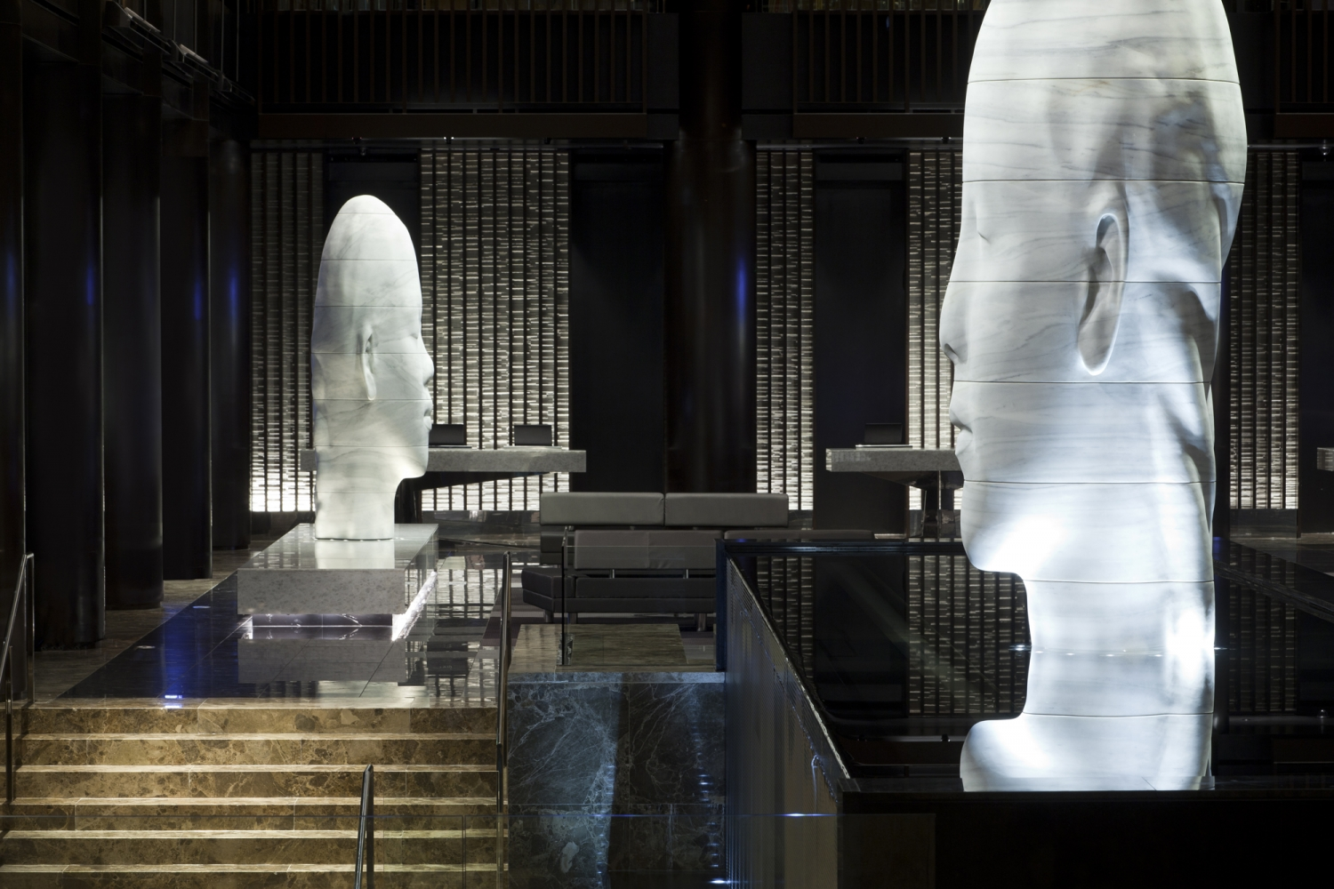 Lobby At Grand Hyatt Ny Bentel Amp Bentel Architects