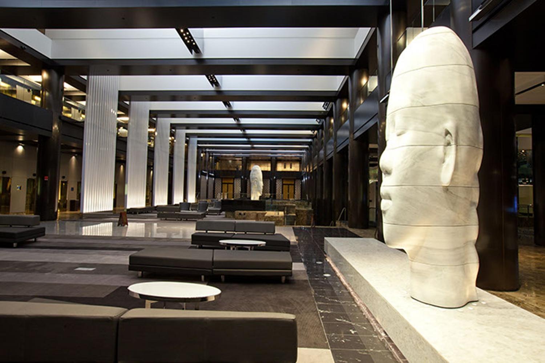 Lobby at grand hyatt ny bentel bentel architects for The interior ny