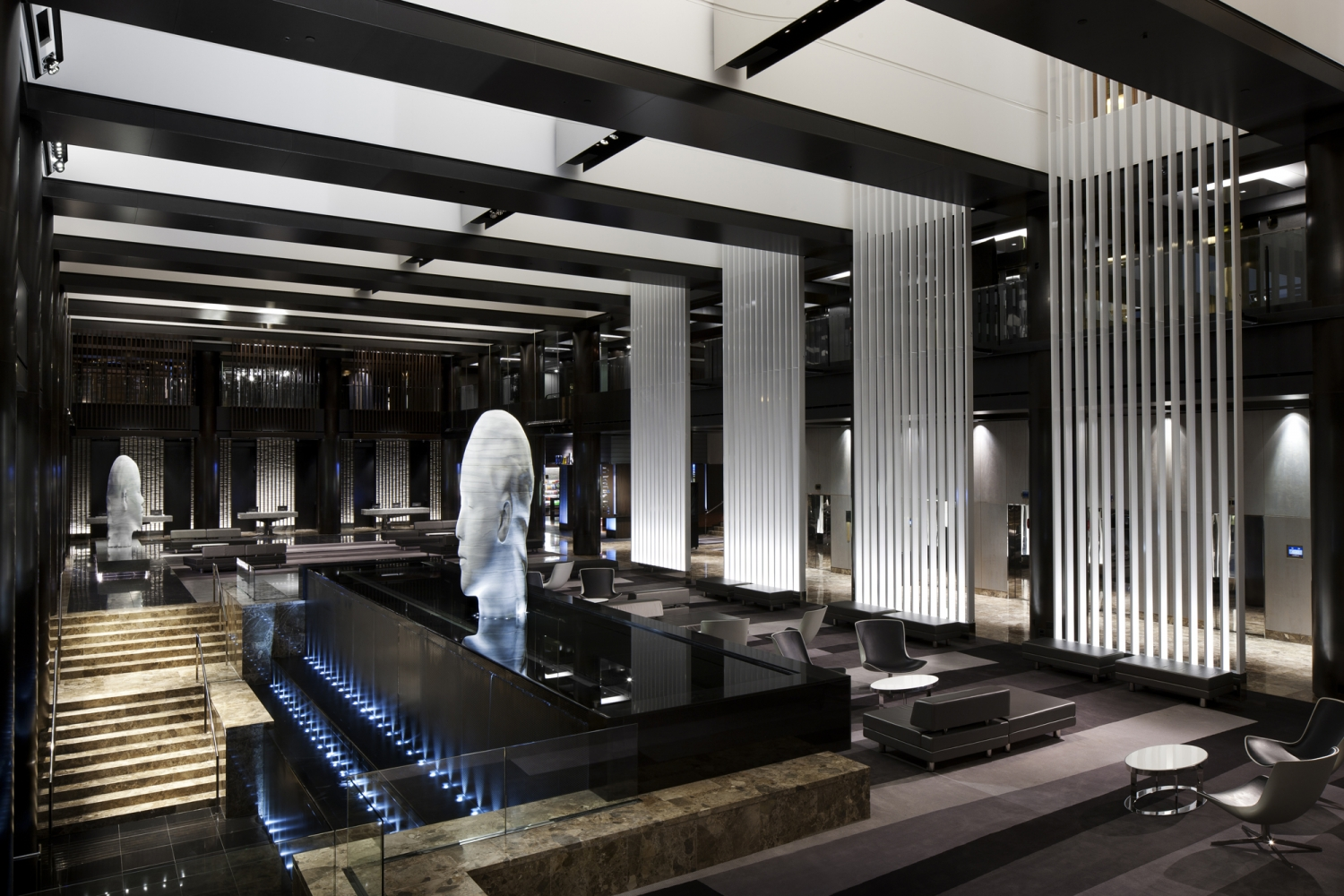 lobby at grand hyatt ny | bentel & bentel architects/planners a.i.a.